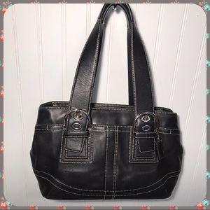Gorgeous Coach Soho Tote Satchel Leather Black Bag
